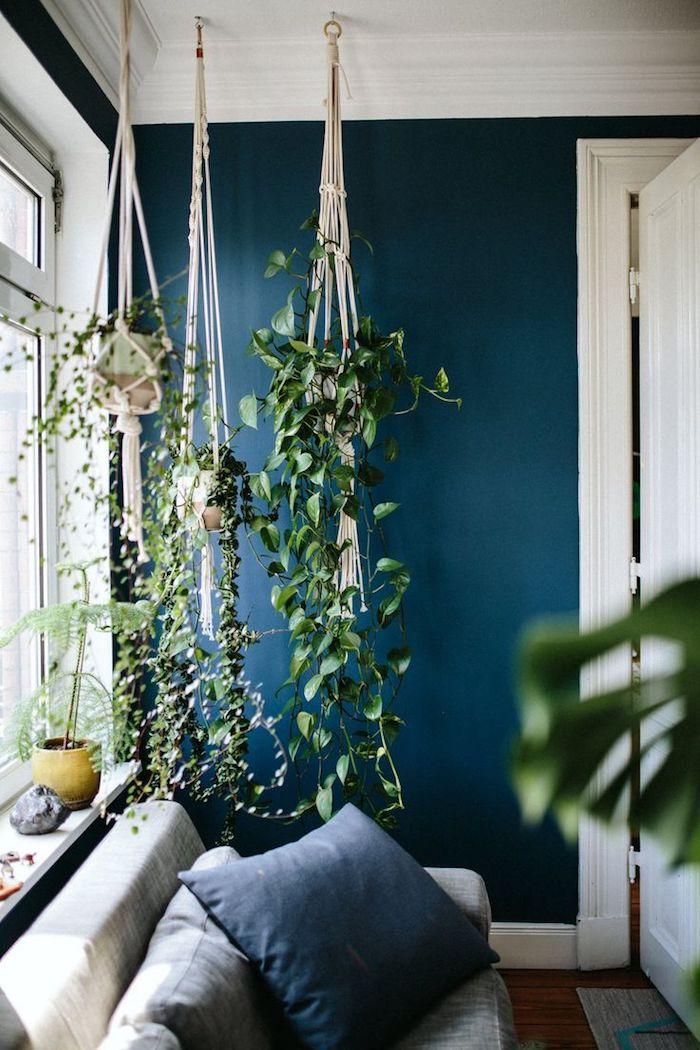 makramee anleitung schöne sitzecke zu hause deko entspannung pflanzen dekokissen