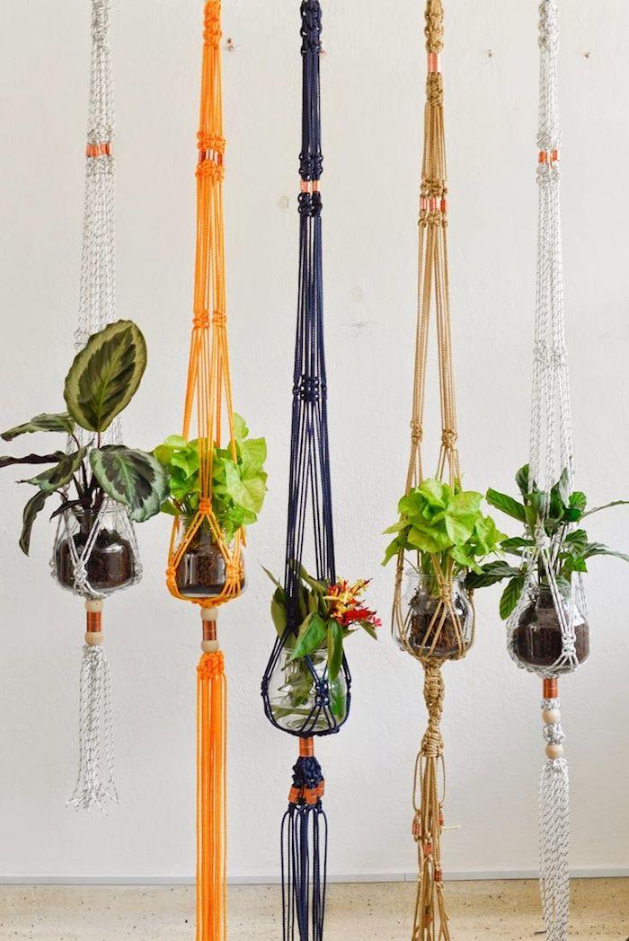 makramee anleitung dekorationen für das zuhause selber machen schöne farben idee