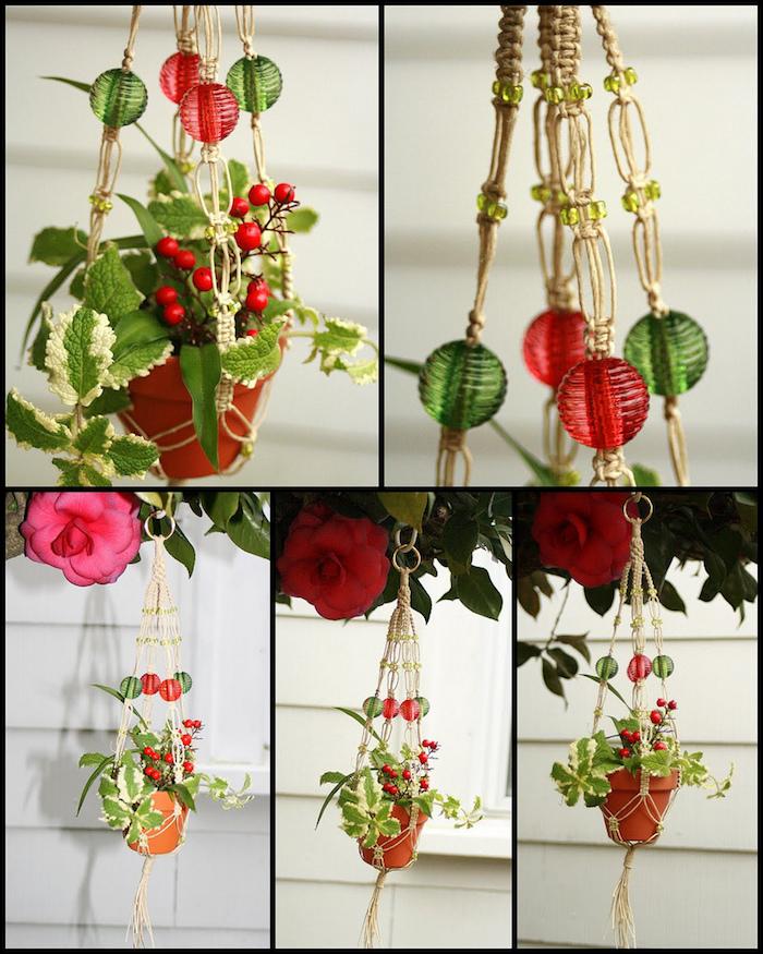 makramee anleitung dekorative ideen zu hause pflanze blume blumentopf deko idee