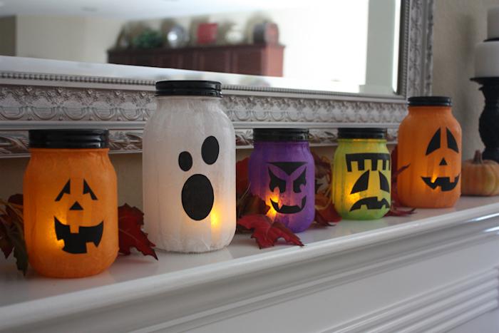 Weckgläser dekorieren und beleuchten - Halloween Deko selber machen