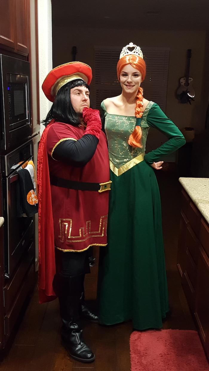 coole Halloween Kostüme - die Prinzessin Fiona von Schreck und der bösen Prinz