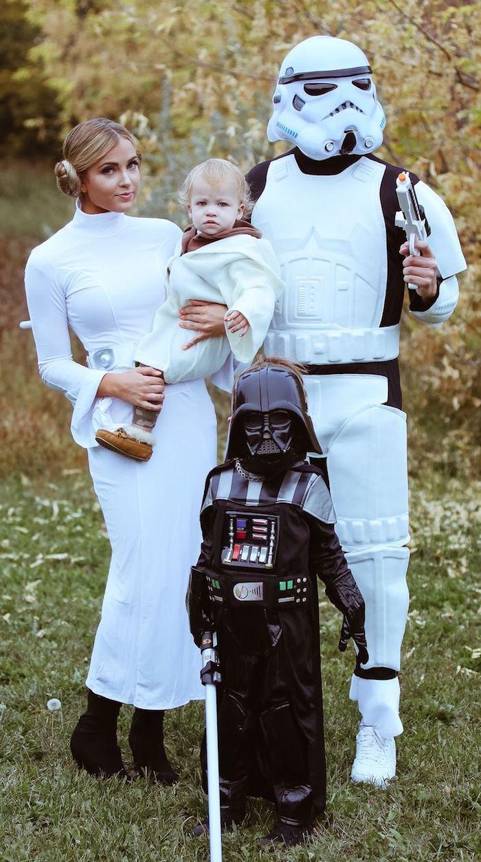 Halloween Kostüme für Kinder und die Eltern - eine Familienkostüm von Star Wars