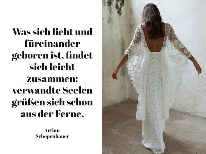 tolle liebessprüche - hier ist eine junge frau mit einem schönen weißen brautkleid und ein toller hochzeitsspruch