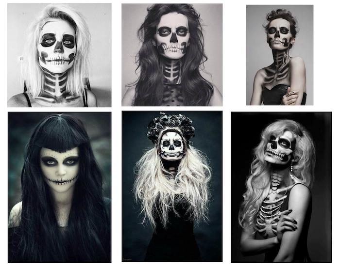 sechs tolle bilder mit jungen frauen, hexen, schminken - tolle bilder und ideen zum thema halloween