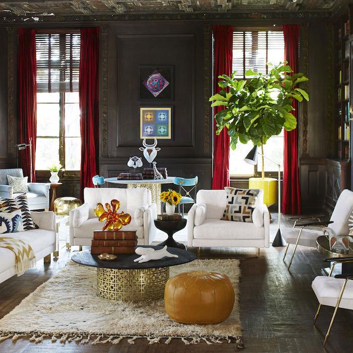 sitzkissen im interieur design ideen lederdeko zu hause pflanze weiße möbel idee