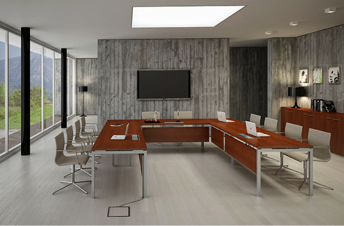 ein ergonomischer Konferenzraum