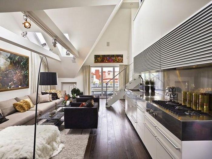 wohnung einrichten ideen zum nachmachen tolle ideen küche sofa goldene kissen deko
