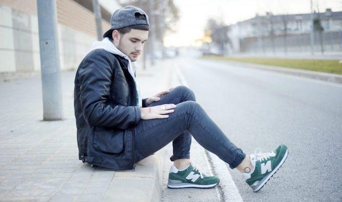 lässige Männermode - Jeans und Jacke