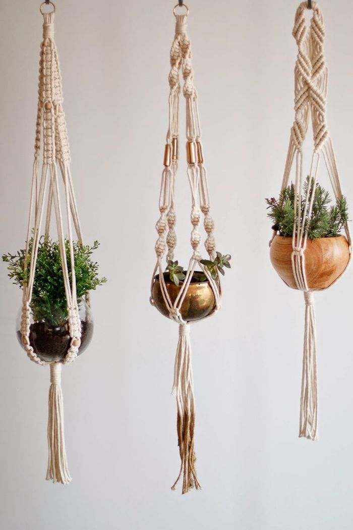 hängende dekorationen für das zuhause kreative ideen zum nachmachen blumentopf deko