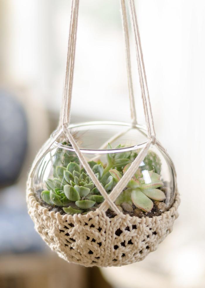 blumenampel kreatives design schöne idee zum nachmachen deko für das zuhause