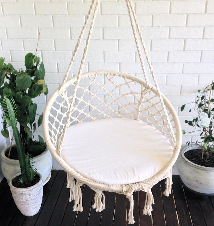 makramee garn für das design von einem sessel verwenden schöne möbel idee einzigartig