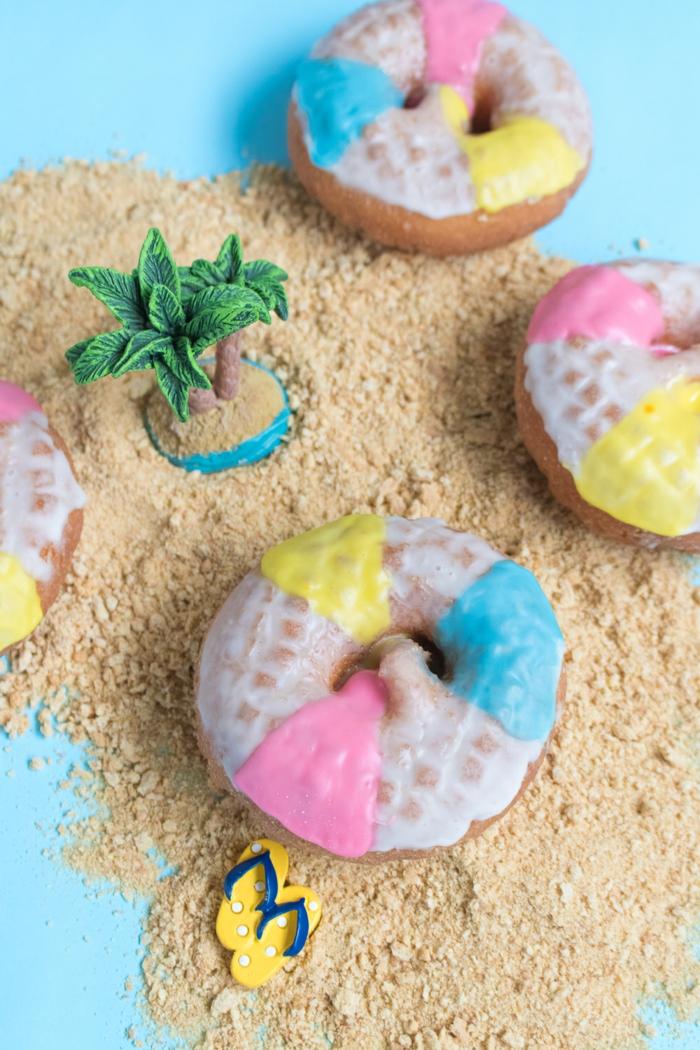 Donuts-Wasserbälle selber vorbereiten, Sommerparty organisieren, kreative Ideen für leckeres Essen