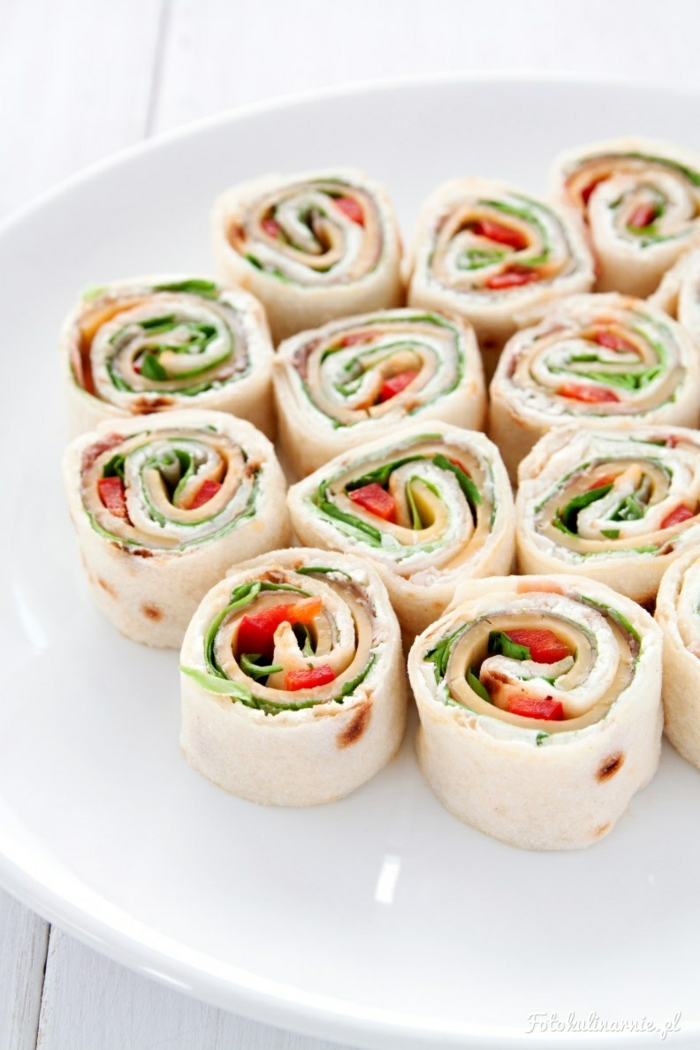 Tortilla- Partyhäppchen vorbereiten, Fingerfood für viele Gäste, Party organisieren- Ideen und Rezepte