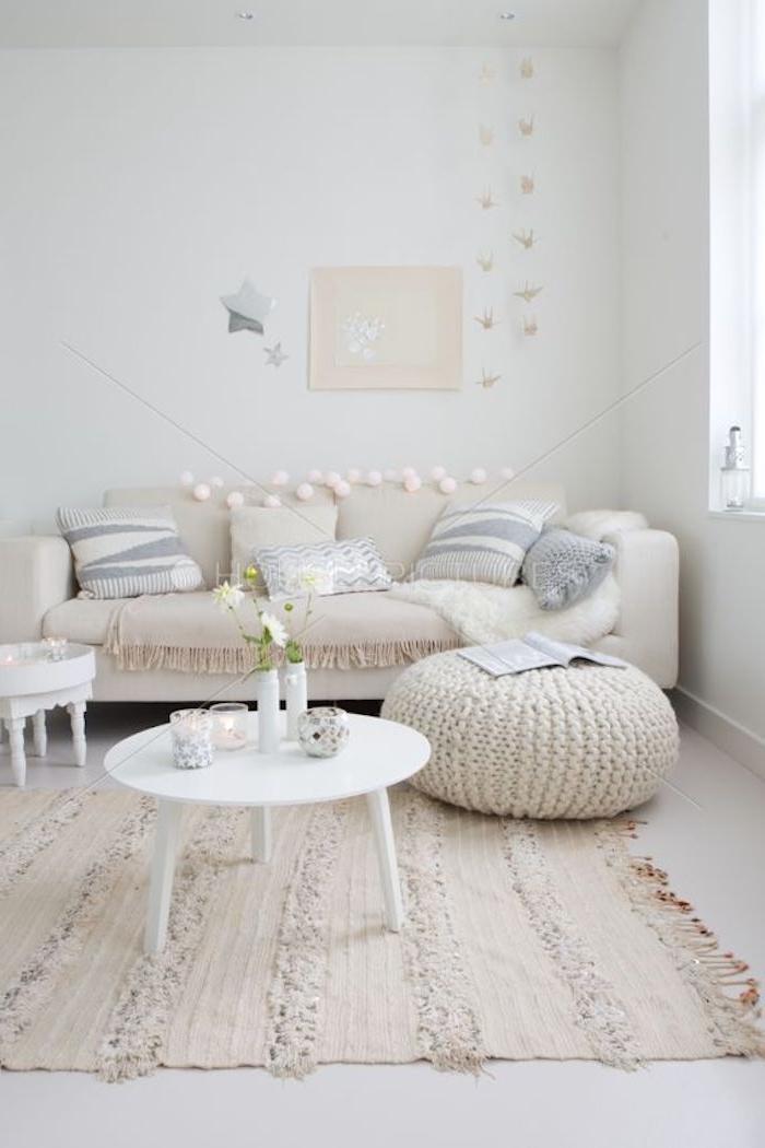 weiß und beige einrichtungsideen in dem zuhause dezente farben helle farben optisch größere wohnung