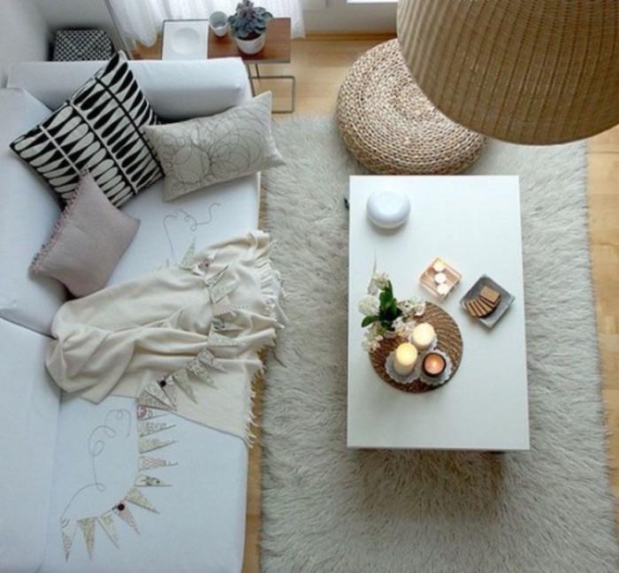 pouf füllung idee kissen auf dem sofa tisch von oben foto kissen selber machen diy idee