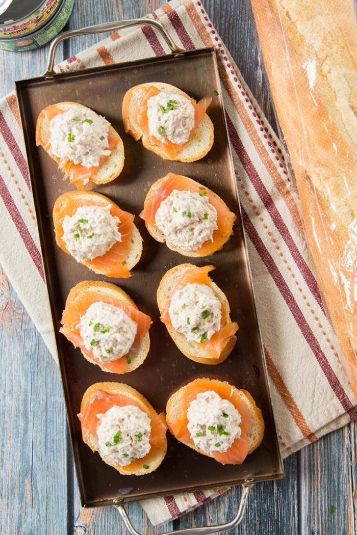 Partyhäppchen mit Lachs einfach und schnell vorbereiten, tolle Partygerichte für viele Gäste