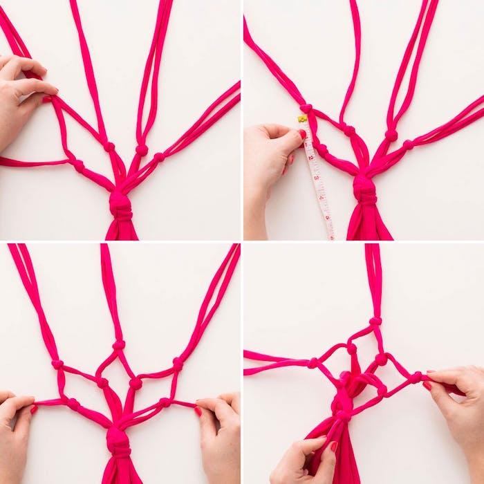 knoten binden schnelle diy ideen zur schönen deko zu hause die größe messen zyklame