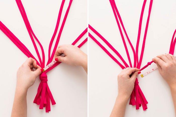 makramee blumenampel zyklamene farbe ideen blumentopf deko für das zuhause messer