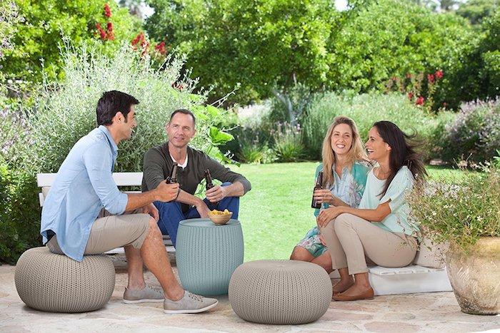 bodenkissen nähen ideen für die veranda treffen mit freunden barbeque brettspiele