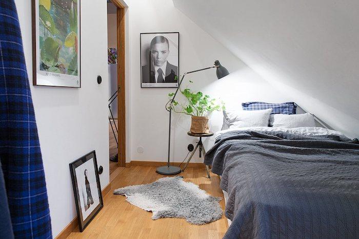 wohnung gestalten tolles design klienes dachzimmer wschlafzimmer wanddeko extravagant