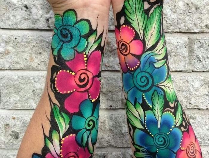1001 Blumen Tattoo Ideen Und Informationen über Ihre Bedeutung