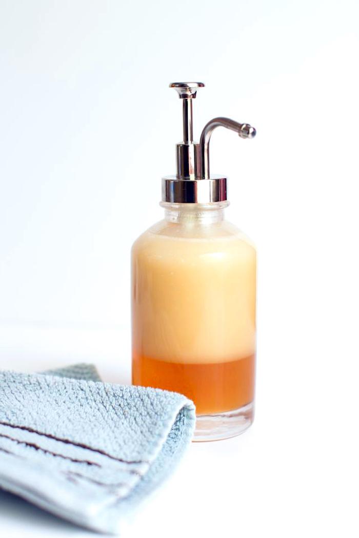 basische körperpflege, duschgel mit honig und kokosöl