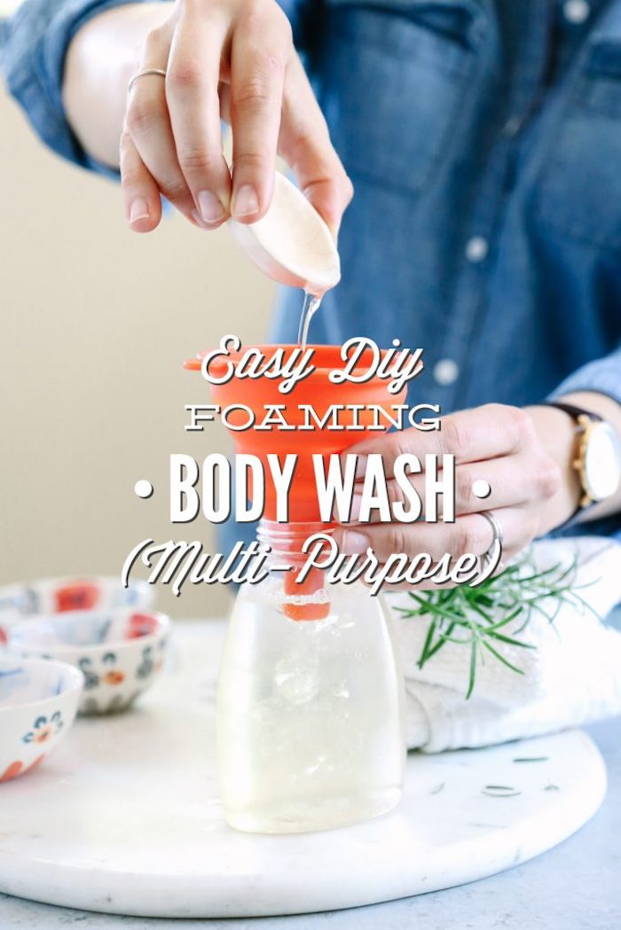 duschgel selber machen, duschgel mit rosenwasser und mandelöl