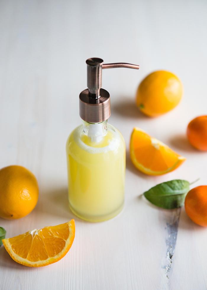 duschgel selber machen, duschöl mit zitrusölen, kokos und vitamin e