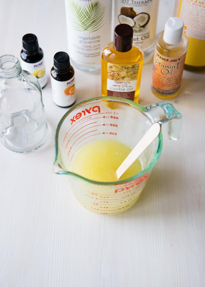 duschgel selber machen, hautpflege mit zitrosölen selbst herstellen