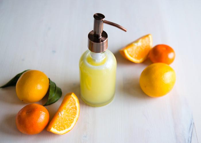 duschgel selber machen, dushgel mit orangen- zitronen- und grapefruitöl