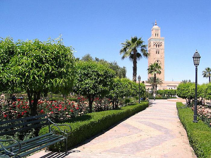 wie heißt die hauptstadt von marokko koutoubia garten sehen wenn in rabat grüne flächen farben moschee turm
