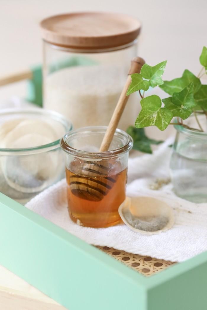 naturkosmetik selber machen, duschgel mit grünem tee und honig