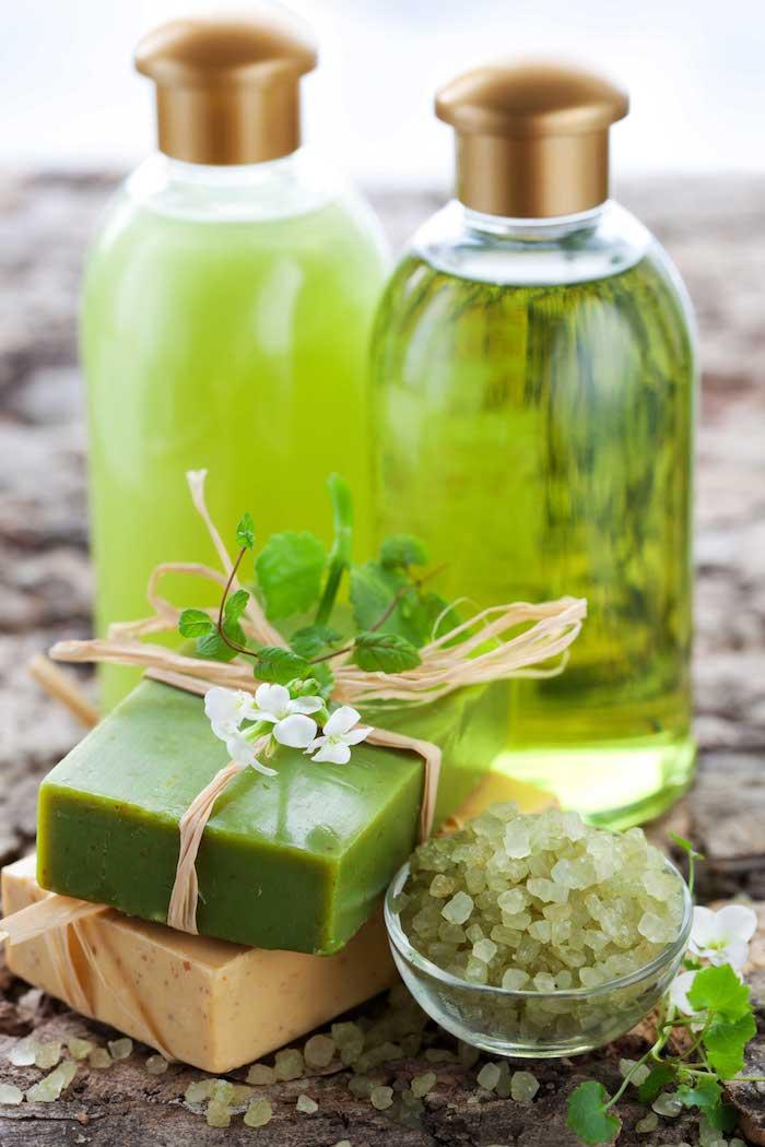 bio kosmetik mit grünem teee, selbstgemachte geschenke für frauen