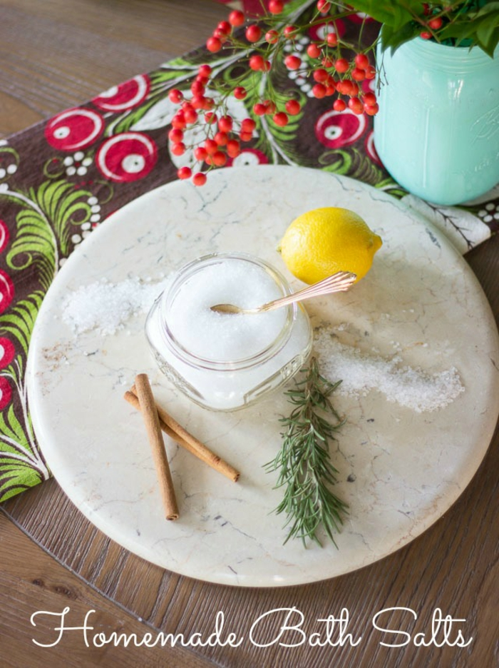 Badesalz mit Zimt, Zitrone und Rosmarin selber herstellen, Hausmittel gegen Erkältung und Grippe