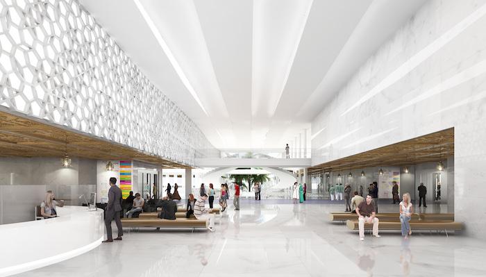 marokko karte luxus krankenhaus weißes interieur arabesken sauberkeit gesundheit