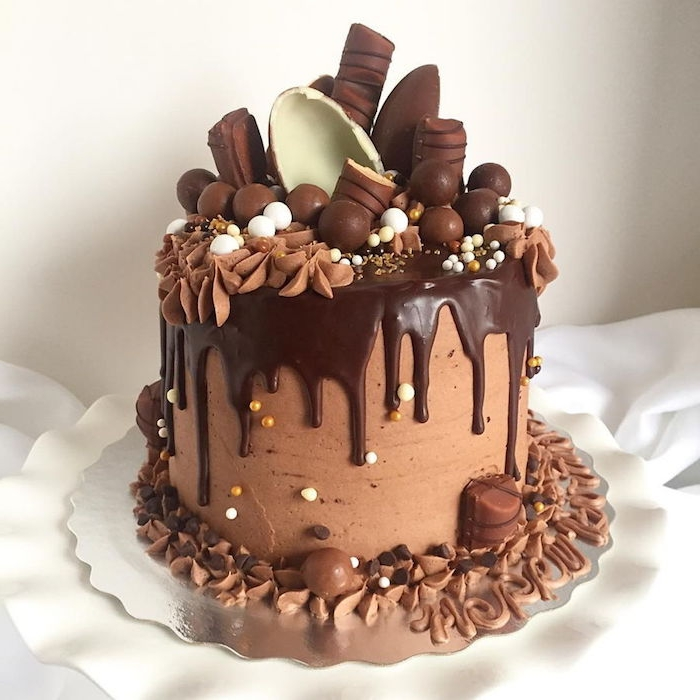Ganache Covered Ice Cream Cake