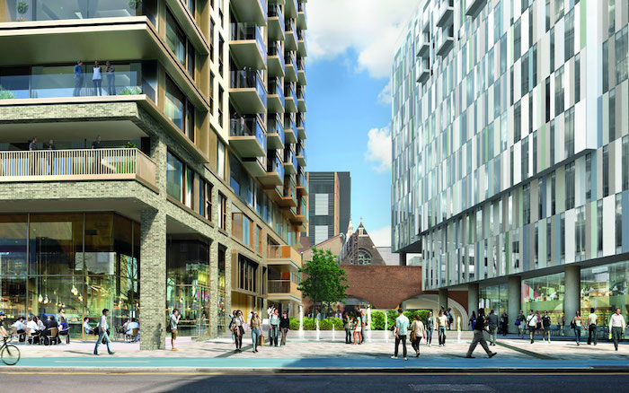 mintgrün design designer ideen in der großen stadt architektur modern leute gehen spazieren große gebäuden
