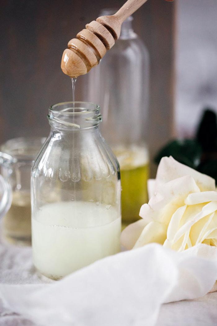 kokosöl haut, duschgel mit kokosmilch und honig selber machen