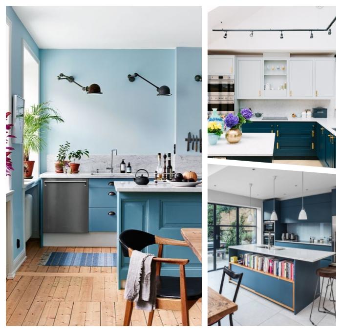 zimmer dekorierne, wohnung gestalten, küche einrichten ideen, moderne küchenfarben