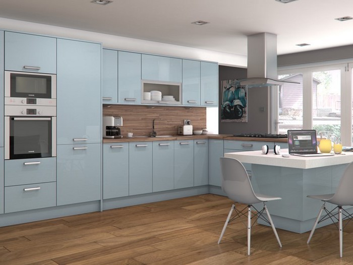 küchenbilder schöne küche selber einrichten blaue küchen designs für das moderne zuhause