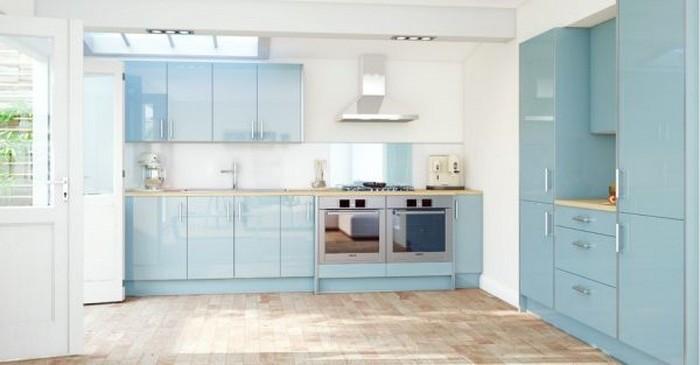 küchenbilder schöne küchendesigns in blau und weiß helle farben in der küche frisch