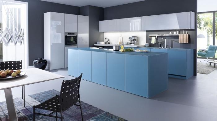 designer mäbel, wohnung gestalten ideen, küchen aktuell bilder, küchengestaltung mit essbereich