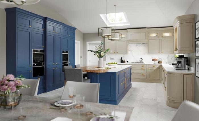 zimmer gestalten, küchen aktuell bilder, küchengestaltung mit essbereich, designer einrichtung