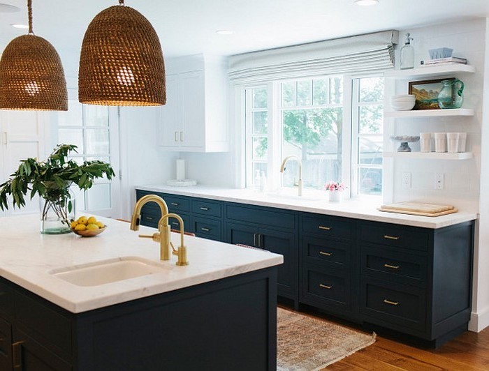 küchenbilder wie steht die blaue farbe in der küche schöne ideen tolle lampen designs