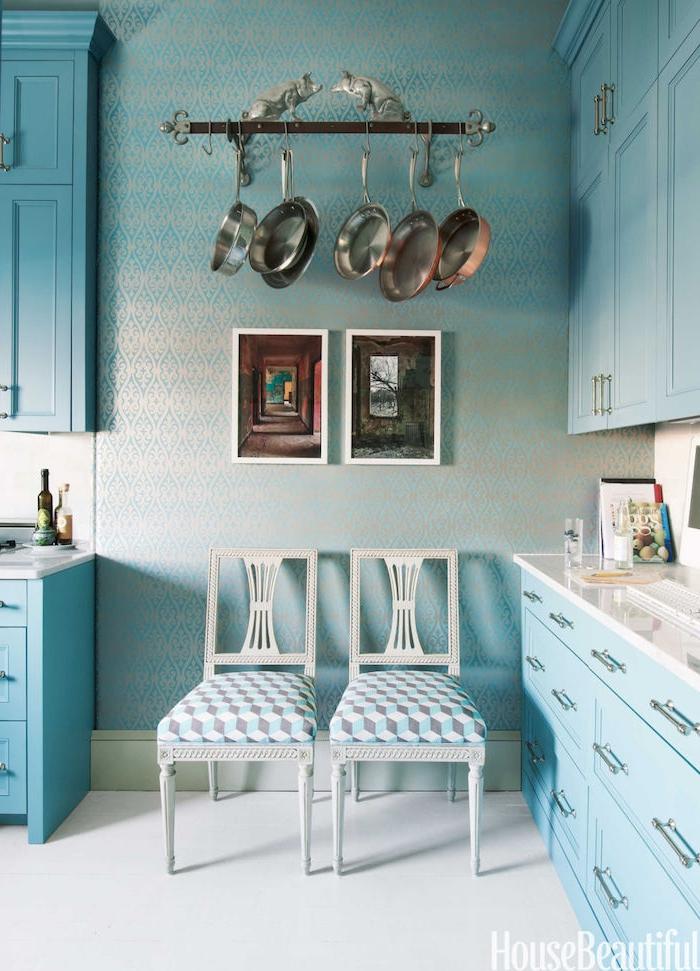 küchen ideen in blau die farbe der ruhe und harmonie schöne nuancen in der küche