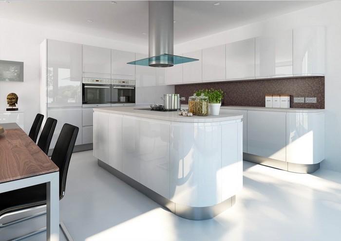 moderne küche idee zum einrichten in hellblau blaue farbe in der küche schöne einrichtung