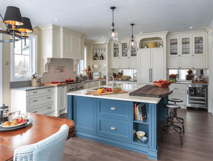 küchen ideen in blau und weiß weiß-blaue-einrichtung ideen zum nachmachen lampen ideen