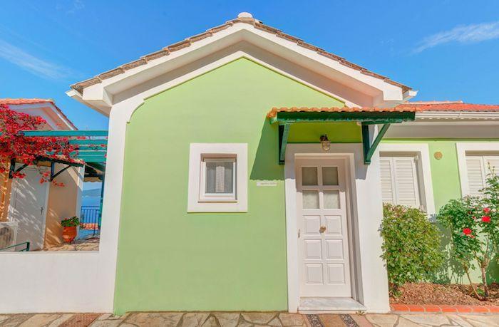 mintgrün farbe ideen deko gestaltung schönes haus in griechenland minze farben kavos kurort erholung urlaub harmonie