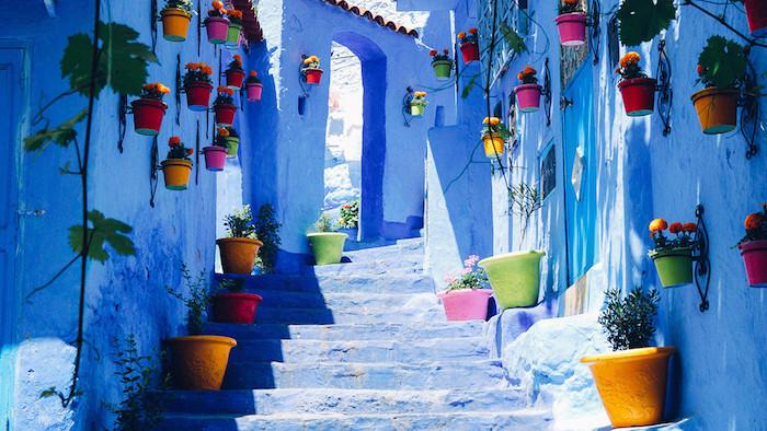 marokko interessante orte ein ort zum besten spaziergang die kleinen gassen von rabat blumen pflanzen deko straßendeko