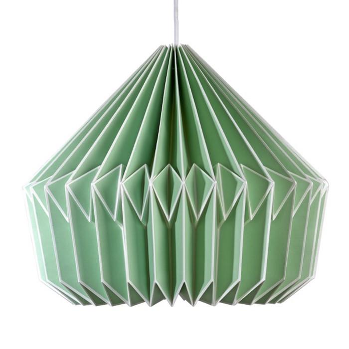 eine einzigartige lampe in der farbe mintgrün schönes design designideen hängende lampe